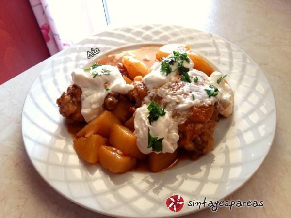 Κοτόπουλο με πάπρικα και μουστάρδα #sintagespareas #kotopoulo #tiganiou