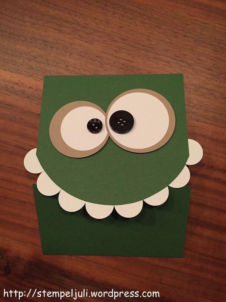 Stampin Up Geburtstag Karte Monster