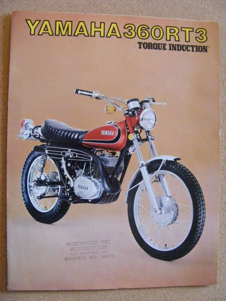 Vintage yamaha rt 360 original motorcycle dealer sales for Yamaha motorcycle dealership