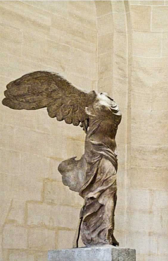 Winged Victory in the Louvre. My favorite place to stand and think.