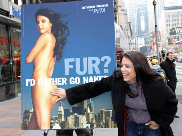 Bethenny Frankel Poses for PETA
