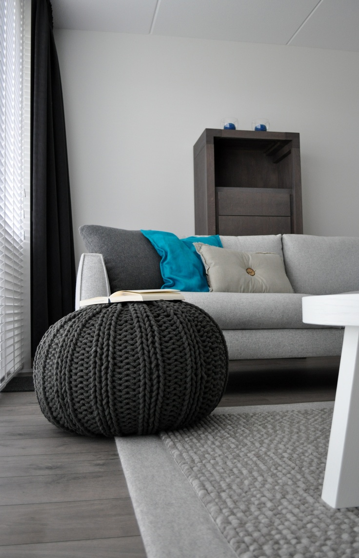 25 best ideas about knitted pouf on pinterest knitted
