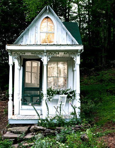 $3,000 Victorian Style Tiny House Featured on NY Times: Tiny House, Little House, Plays House, Shabby Chic, Guest House, Hunt'S Cabin, Victorian Cottages, Tiny Cottages, Little Cottages