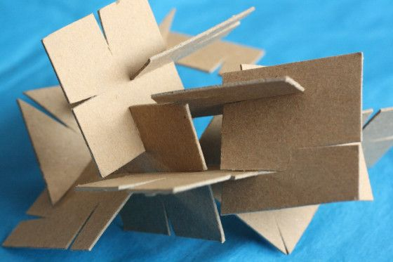 Little builders will love this homemade cardboard construction set. Great for fine motor skills, it's an easy, inexpensive homemade activity for kids.
