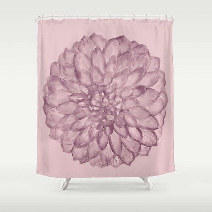 Buy A Flower On Pale Dusty Rose Shower Curtain By Blerta