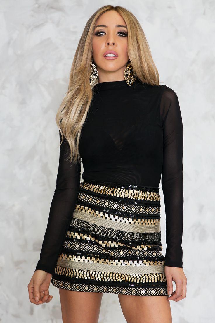 Tribal Dreams Sequin Skirt – Haute & Rebellious