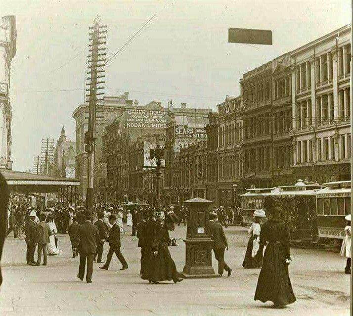 Collins St,Melbourne in Victoria in 1890.