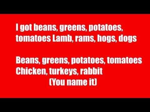 Shirley Caesar Greens beans potatoes tomatoes