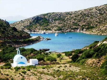 Small beautiful bay on Lipsi island, Greece