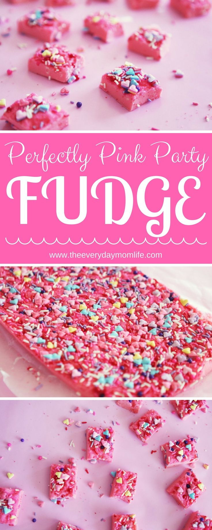 Try our perfectly pink party FUDGE for your next princess party, Valentine's Day, unicorn party or any sort of party where yummy pinkness is part of the fun.