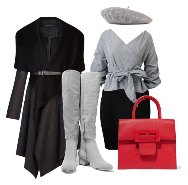 A touch of red by iioanak on Polyvore featuring polyvore fashion style BCBGMAXAZRIA WearAll Halston Heritage Maison Margiela Gucci clothing