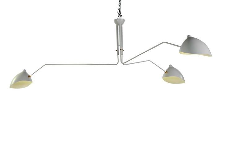 mcl r3 ceiling lamp three arm white ceiling lamp by serge mouille. Black Bedroom Furniture Sets. Home Design Ideas
