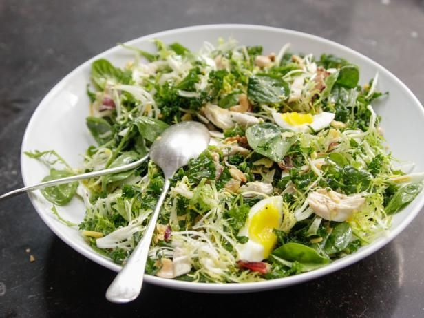 Ina's Chicken And Spinach Waldorf Salad - For Allergy Free remove egg and do not add the nuts and cheese