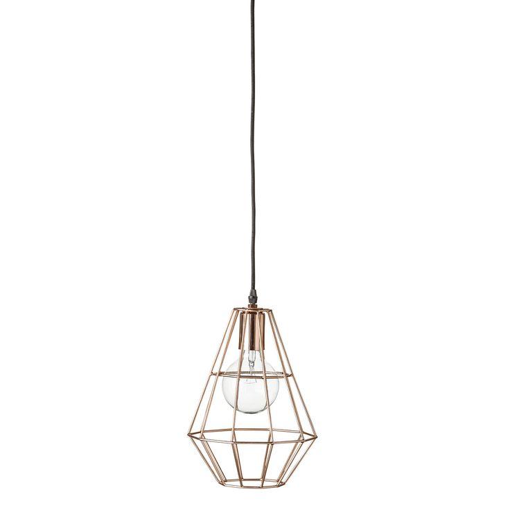 Get The Look Overscale Lighting: Get The Geometric Copper Look Overhead.
