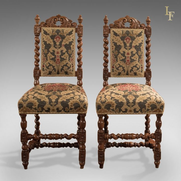 Pair of Antique Hall Chairs, Victorian, Oak, Needlepoint c.1870 - 177 Best Antique Chairs And Seating Images On Pinterest Antique