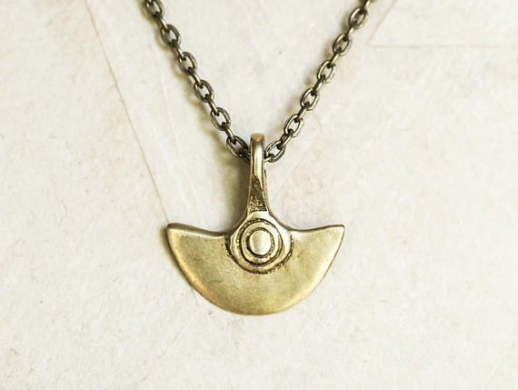 Solid Brass Naga Tribe Pendant Necklace