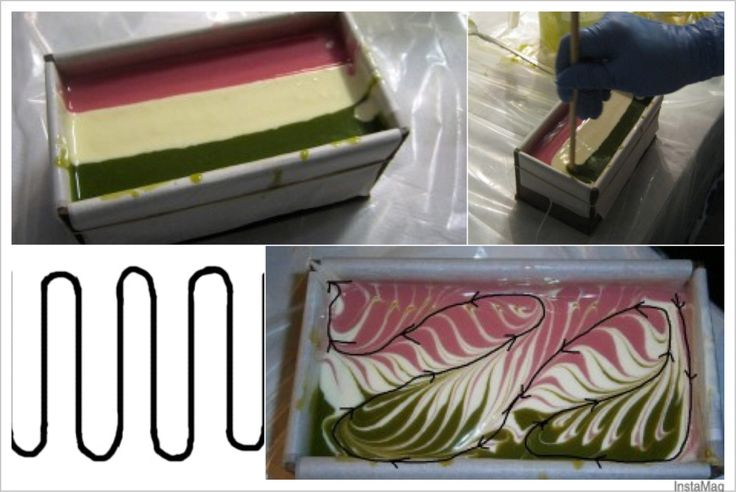 mantra swirl soap