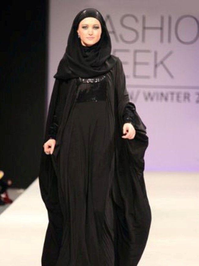 Latest Dubai Designer Abaya Gowns Designs Collection-2015  (12)