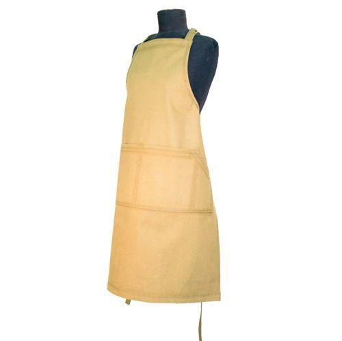 Certified Organic heavy duty cotton apron - Beige