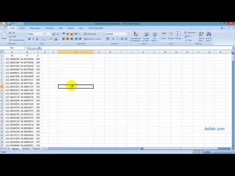 Cara Membuat Kontur Dari Hasil Data Ukur Lapangan