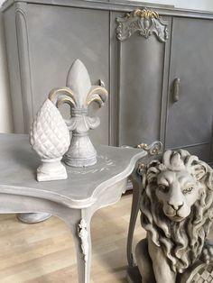 Couchtisch Wohnzimmertisch Shabby Chic Antik Vintage Grau Weiss