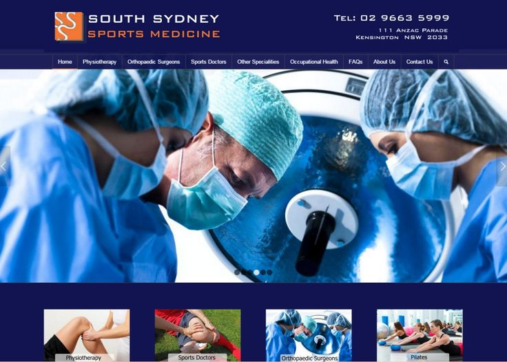 Website Design Gallery - South Sydney Sports Medicine