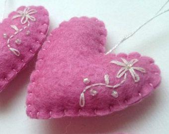 Adornos - adornos de fieltro - día de San Valentín/cumpleaños/Navidad/bebé/es del corazón una chica/inauguración de la casa hogar decoración