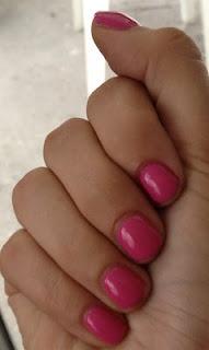 Shellac Hot Pop Pink.