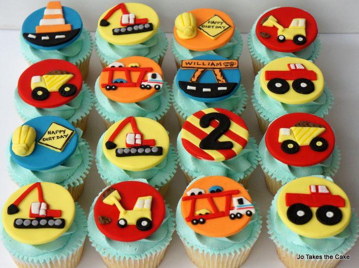 Children's Birthday Cakes - Construction theme cupcakes