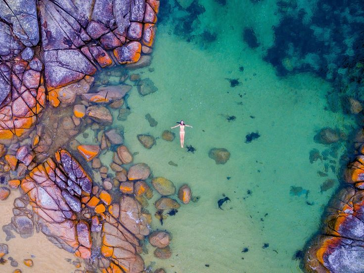 Stunning Binnalong Bay. Bay of Fires. Tasmania. Australia.❤️