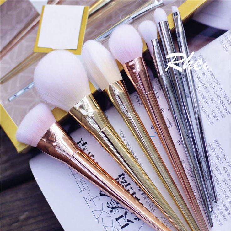 Pro 7pcs Blush Powder Brushes Makeup Brush Tool Kit Bold