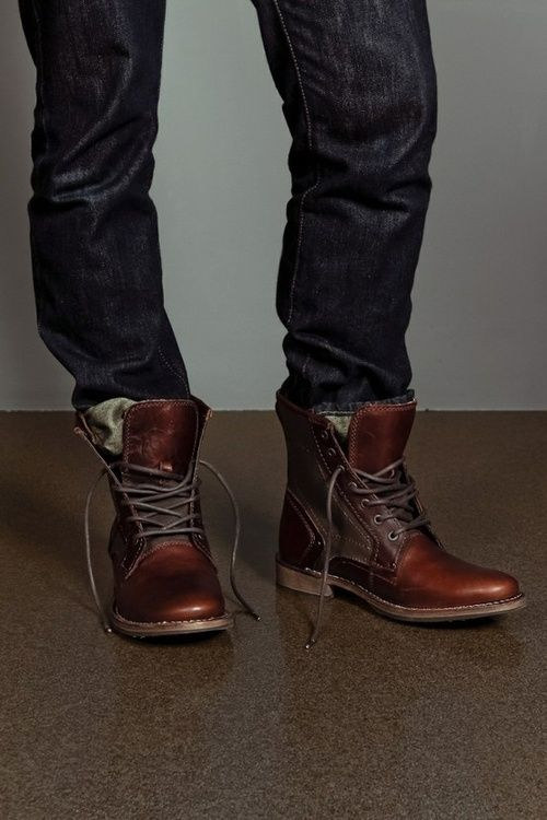 Abe TX Boot---Oooo I love this look on a guy with a nice safari style jacket and a white v neck?! YESSSSSS PLEASE!