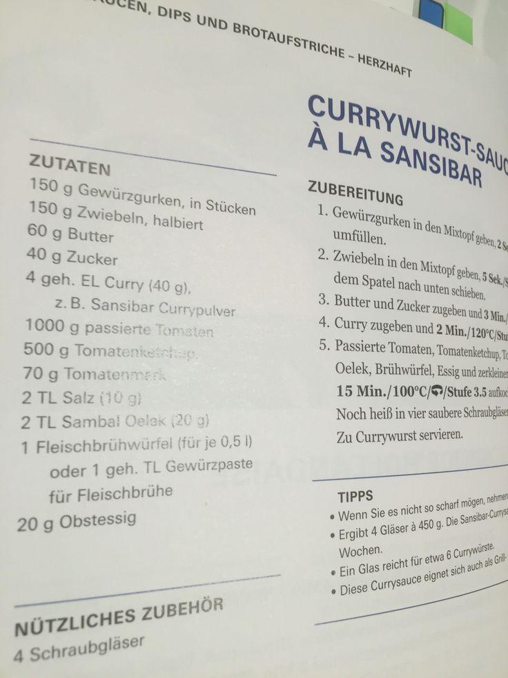 """Currywurst Sauce """"Sansibar"""""""