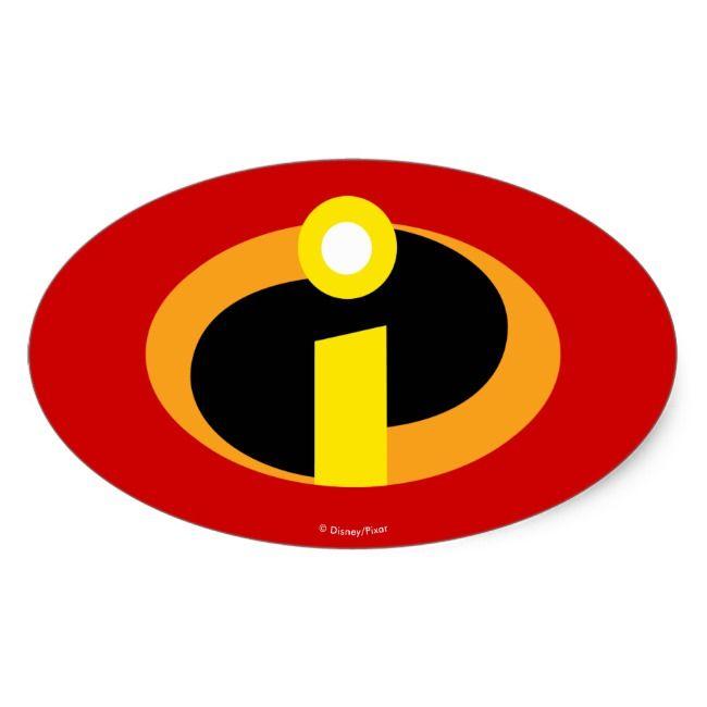 The Incredibles Logo Oval Sticker Zazzle Com In 2020 Incredibles Logo Disney Sticker The Incredibles
