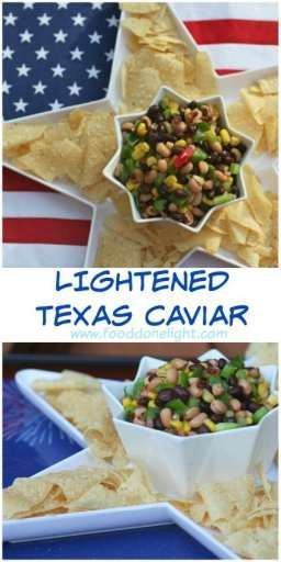 My new favorite Dip ! Lightened Texas Caviar Dip Low Calorie, Low Fat Healthy Recipe perfect for a party.  Grab some chips or have it as a salad for dinner
