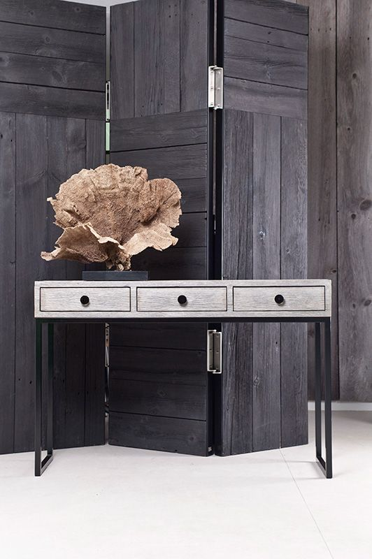 Contemporary furniture offset with large organic items as display #covetlounge @covetlounge