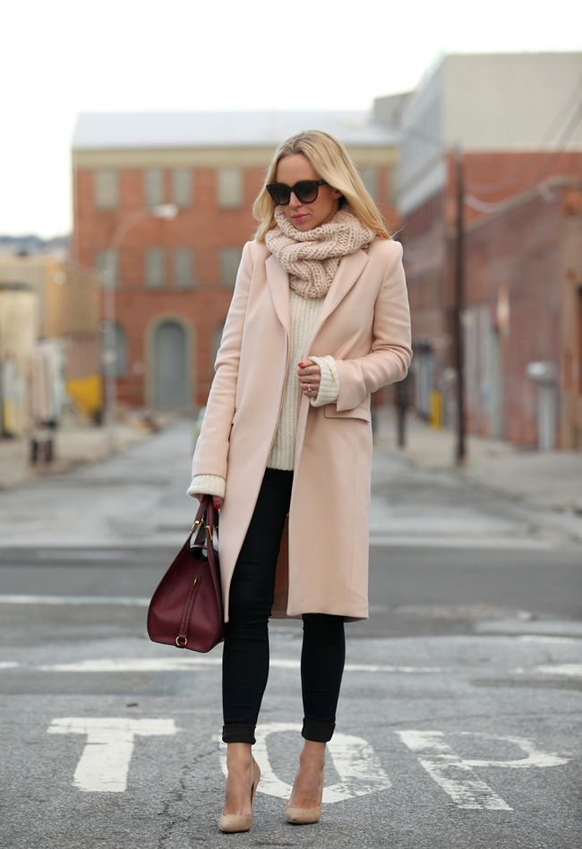 Light Pink Winter Coat - JacketIn