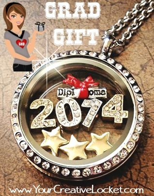 A gift for Grads 2014- South Hill Designs Locket!  Canadian and US orders accepted! Shop at: www.yourcreativelocket.com  #graduation #locket #southhilldesigns #yourcreativelocket #grad