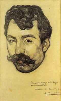 """Portrait of Zapata"" by Saturnino Herran 1913"