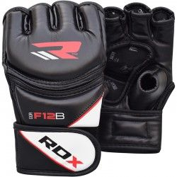 RDX Leather-X Training MMA Grappling Gloves