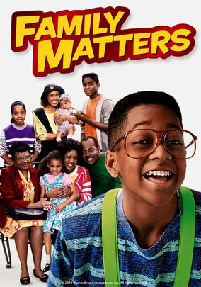 Favorite African American Sitcom:  Family Matters- Family Matters was a sitcom about an African American family that lives in Chicago, Illinois. It ran for 9 seasons, making it one of the longest running sitcoms. It includes its breakout star, Jaleel White, also known as Steve Urkel.