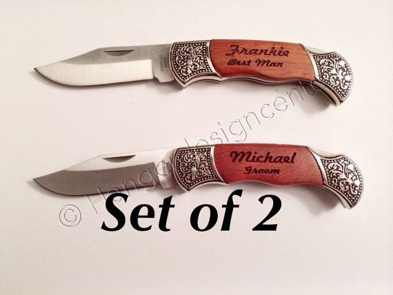 2 Engraved Pocket Knives