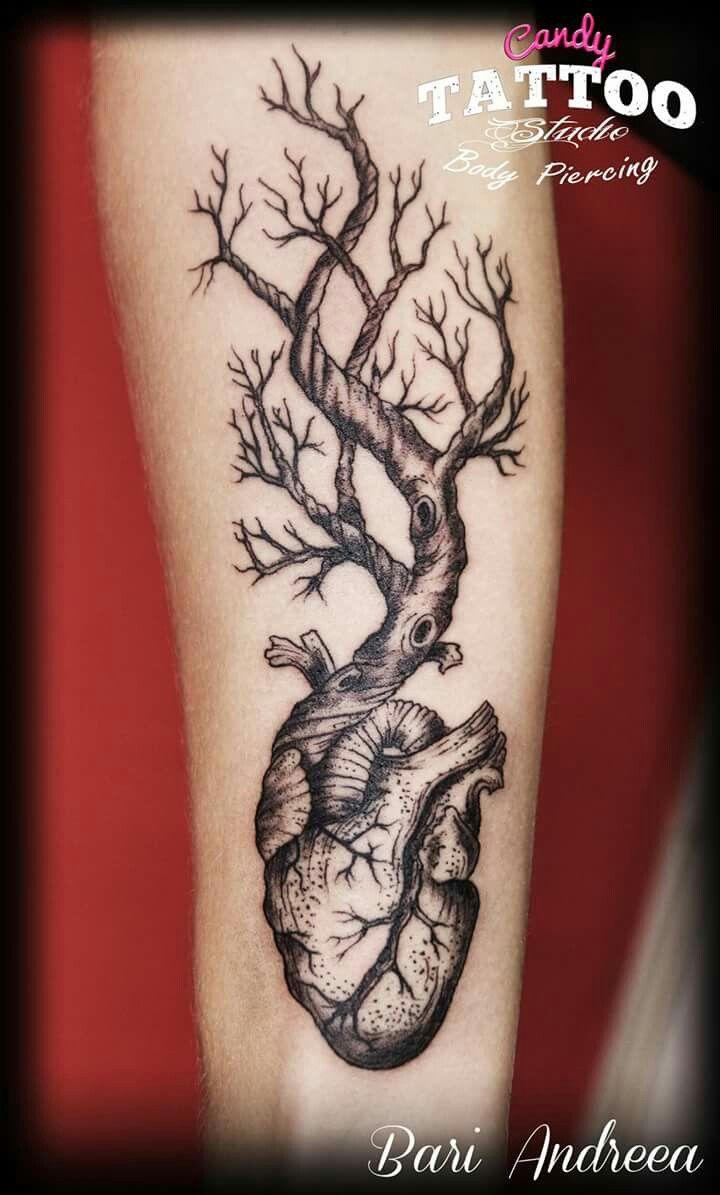 tattoo ideas heart three life girl armtattoo