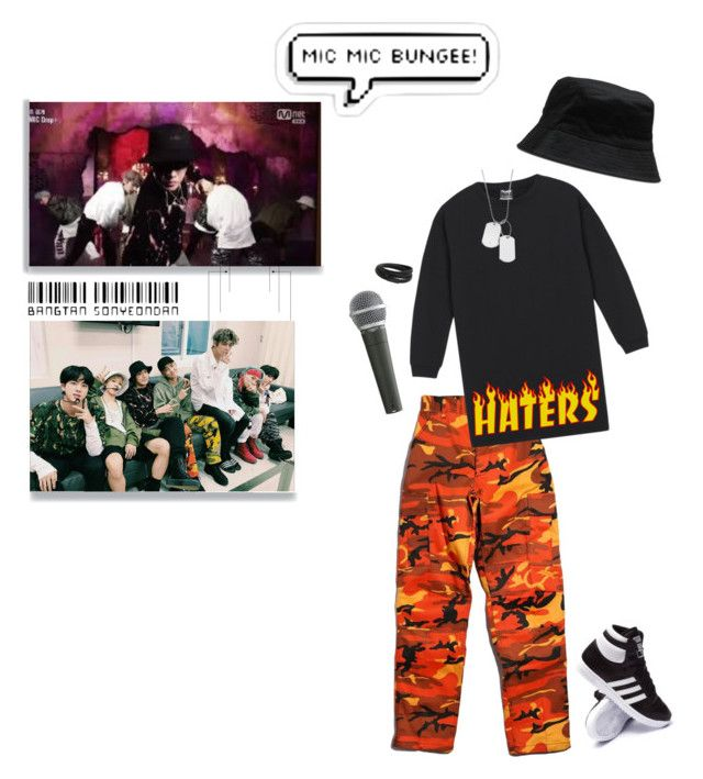 """Did you see my bag?"" by carot-army ❤ liked on Polyvore featuring Rothco, adidas, Dr. Martens, Pyle, Variations, MANGO MAN, kpop, Loveyourself, korea and bts"