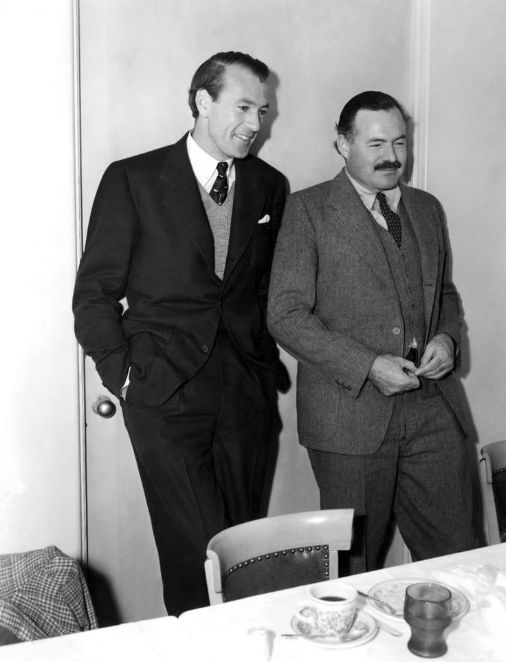 Gary Cooper and Ernest Hemmingway 1940