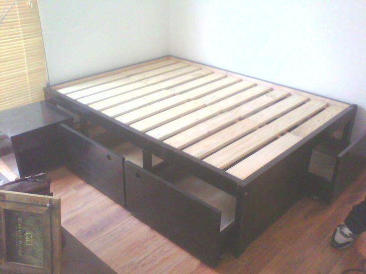 Camas con cajones 2 plazas buscar con google camas con for Futon cama plaza y media