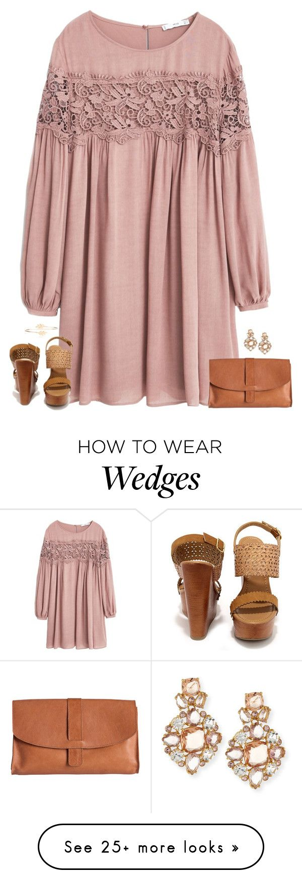 """""""when I hear your voice I'll be fine."""" by kaley-ii on Polyvore featuring MANGO, Soda, Pieces, Kate Spade and Accessorize"""