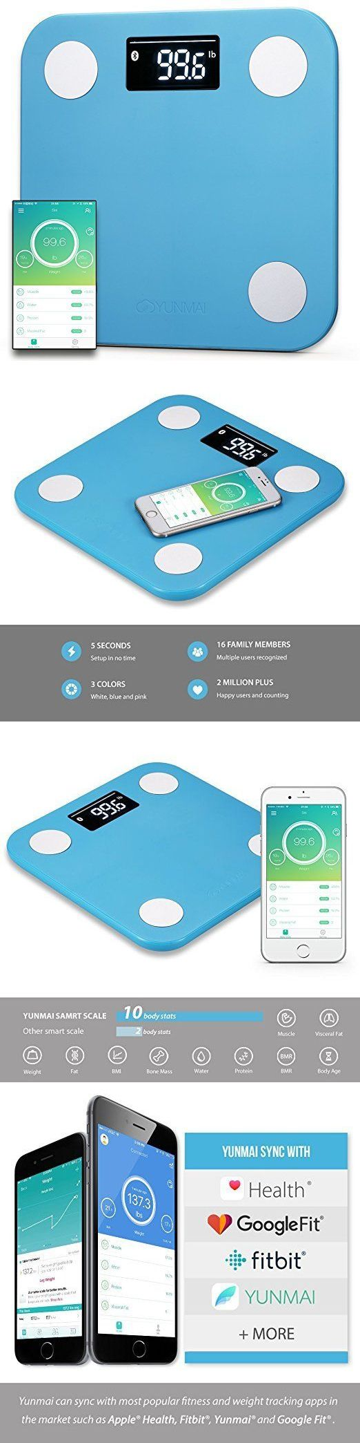 Scales: Body Fat Scale Weight Bmi Digital Analyzer Loss Body Mass Health Fitness Monitor -> BUY IT NOW ONLY: $69.47 on eBay!