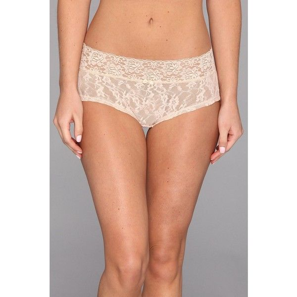 DKNY Intimates Signature Lace Boyshort Women's Underwear (1300 RSD) ❤ liked on Polyvore featuring intimates, panties, dkny panties, lace boy short panties, underwear panties, boyshort panty and seamless panty