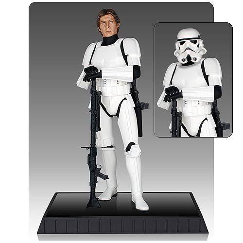 Star Wars Han Solo in Stormtrooper Armor Statue